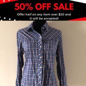 Lucky Brand Western Style Snap Front Shirt-Medium